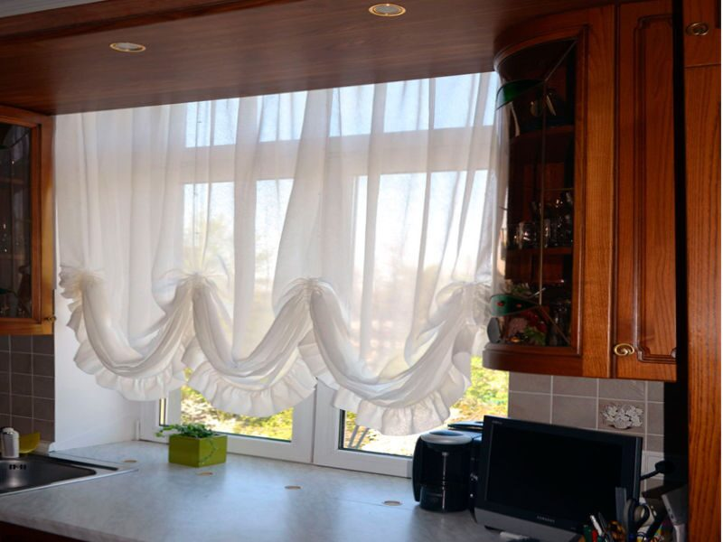 Своими руками австрийскую штору на кухню